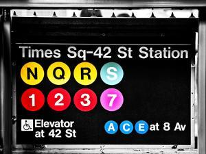 Subway Sign at Times Square, 42 St Station, Manhattan, New York, Special by Philippe Hugonnard