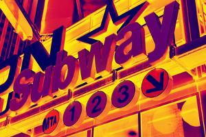 Subway Stations - Pop Art - New York City - United States by Philippe Hugonnard