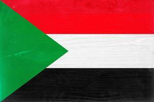 Sudan Flag Design with Wood Patterning - Flags of the World Series by Philippe Hugonnard