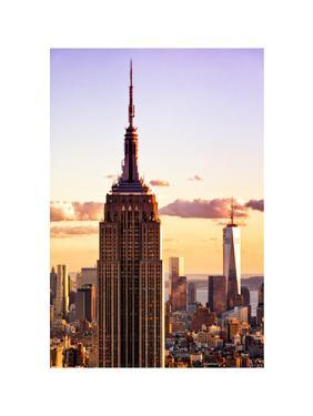 Sunset View, Empire State Building and One World Trade Center (1WTC), Manhattan, NYC, Colors by Philippe Hugonnard