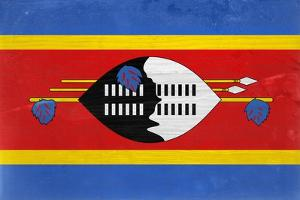 Swaziland Flag Design with Wood Patterning - Flags of the World Series by Philippe Hugonnard