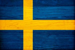 Sweden Flag Design with Wood Patterning - Flags of the World Series by Philippe Hugonnard