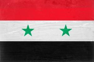 Syria Flag Design with Wood Patterning - Flags of the World Series by Philippe Hugonnard