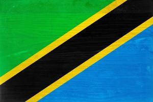 Tanzania Flag Design with Wood Patterning - Flags of the World Series by Philippe Hugonnard