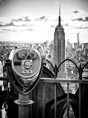 Telescope on the Obervatoire Deck, Top on the Rock at Rockefeller Center, Manhattan, New York by Philippe Hugonnard