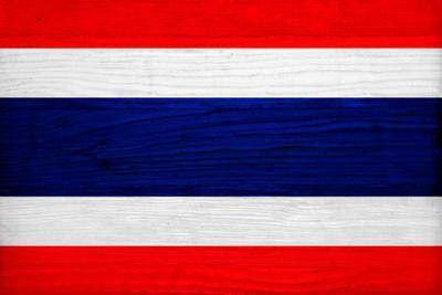 Thailand Flag Design with Wood Patterning - Flags of the World Series by Philippe Hugonnard
