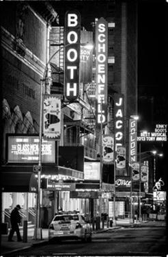 The Booth Theatre at Broadway - Urban Street Scene by Night with a NYPD Police Car - Manhattan by Philippe Hugonnard