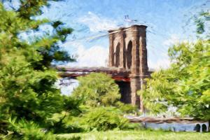 The Brooklyn Bridge - In the Style of Oil Painting by Philippe Hugonnard