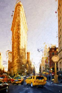 The Flatiron Building - In the Style of Oil Painting by Philippe Hugonnard