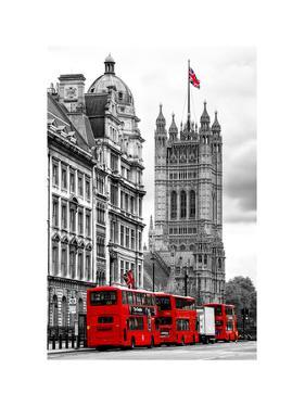 The House of Parliament and Red Bus London - UK - England - United Kingdom - Europe by Philippe Hugonnard