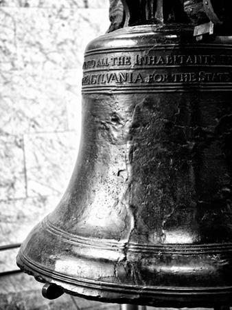 The Liberty Bell, Philadelphia, Pennsylvania, United States, Black and White Photography