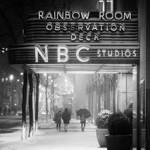 The NBC Studios in the New York City in the Snow at Night by Philippe Hugonnard