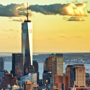 The One World Trade Center (1Wtc) at Sunset, Manhattan, New York, United States, Square by Philippe Hugonnard