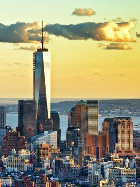 The One World Trade Center (1Wtc) at Sunset, Manhattan, New York, United States by Philippe Hugonnard