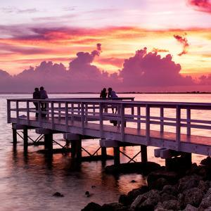The Pier at Sunset Lovers by Philippe Hugonnard