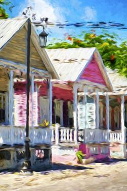 The Pink House II - In the Style of Oil Painting by Philippe Hugonnard