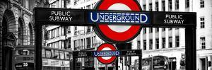 The Underground Signs - Subway Station Sign - City of London - UK - England - United Kingdom by Philippe Hugonnard