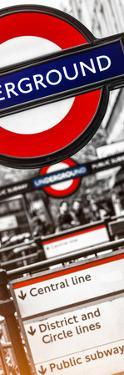 The Underground - Subway Station Sign - London - UK - England - United Kingdom - Door Poster by Philippe Hugonnard