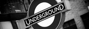 The Underground - Subway Station Sign - London - UK - England - United Kingdom - Europe by Philippe Hugonnard