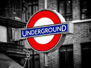 The Underground - Subway Station Sign - London - UK - England - United Kingdom - Europe by Philippe Hugonnard