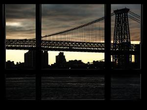 The Williamsburg Bridge at Night - Lower East Side of Manhattan - Brooklyn, New York, USA by Philippe Hugonnard