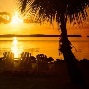 Three Chairs at Sunset - Florida by Philippe Hugonnard