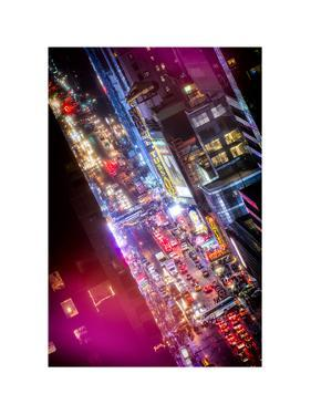 Times Square 42nd Street by Night by Philippe Hugonnard