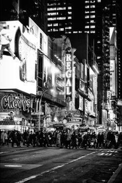 Times Square Urban Scene by Night - Manhattan - New York City - United States by Philippe Hugonnard
