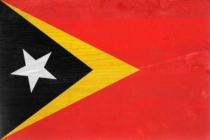Timor-Leste Flag Design with Wood Patterning - Flags of the World Series by Philippe Hugonnard