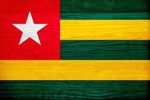Togo Flag Design with Wood Patterning - Flags of the World Series by Philippe Hugonnard