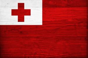 Tonga Flag Design with Wood Patterning - Flags of the World Series by Philippe Hugonnard