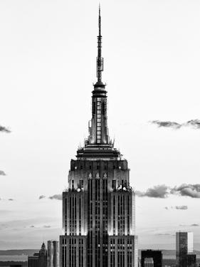Top of Empire State Building, Manhattan, New York, United States, Black and White Photography by Philippe Hugonnard