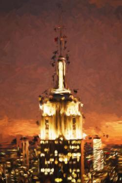 Top of the Empire Building - In the Style of Oil Painting by Philippe Hugonnard