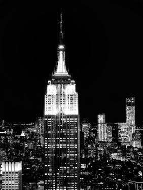 Top of the Empire State Building and One World Trade Center by Night, Manhattan, NYC by Philippe Hugonnard
