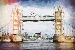 Tower Bridge II - In the Style of Oil Painting by Philippe Hugonnard