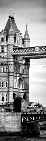 Tower Bridge with Red Bus in London - City of London - UK - England - United Kingdom - Door Poster by Philippe Hugonnard