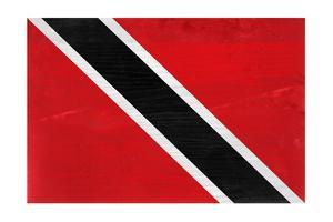 Trinitad And Tobago Flag Design with Wood Patterning - Flags of the World Series by Philippe Hugonnard