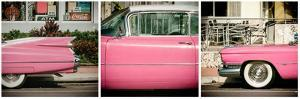 Triptych Collection - Classic Pink Cars of South Beach - Miami - Florida by Philippe Hugonnard