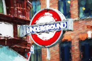 Underground Sign II - In the Style of Oil Painting by Philippe Hugonnard