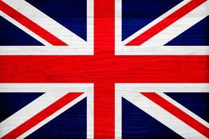 United Kingdom Flag Design with Wood Patterning - Flags of the World Series by Philippe Hugonnard