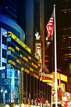 Urban Landscape - Nasdaq marketsite - Times Square - Manhattan - New York City - United States by Philippe Hugonnard
