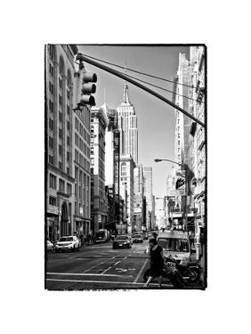Urban Lifestyle, Empire State Building, Manhattan, New York, White Frame, Full Size Photography by Philippe Hugonnard