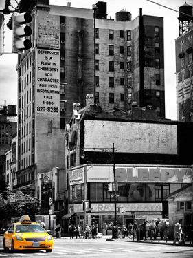 Urban Lifestyle Scene, Yellow Cab, Amsterdam Av, Upper West Side of Manhattan, NYC, USA by Philippe Hugonnard