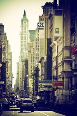 Urban Scene, 401 Broadway, Soho, Manhattan, NYC, White Frame by Philippe Hugonnard