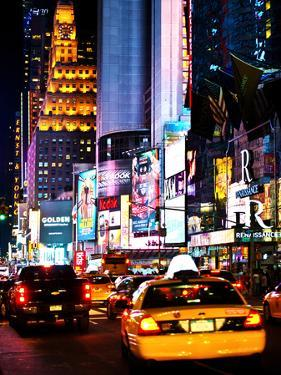 Urban Scene by Night, Times Square, Manhattan, New York City, United States by Philippe Hugonnard