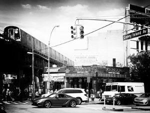 Urban Scene, Coney Island Av and Subway Station, Brooklyn, Ny, US, USA, Old by Philippe Hugonnard