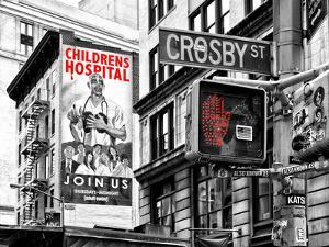 "Urban Scene, Wall Advertising ""Childrens Hospital"", Crosby Street, Broadway, Manhattan, NYC Colors by Philippe Hugonnard"