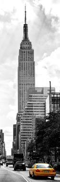 Urban Scene, Yellow Cab and Empire State Buildings View, Midtown Manhattan, NYC by Philippe Hugonnard
