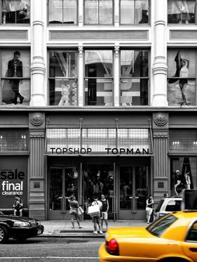 Urban Scene, Yellow Taxi, Topshop Store Front, Broadway, Soho, Manhattan, New York Colors by Philippe Hugonnard