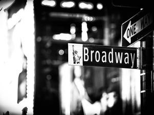 Urban Sign, Broadway Sign at Times Square by Night, Manhattan, New York, Classic by Philippe Hugonnard